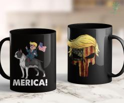 Trump 2020 Poll Trump Merica Boston Terrier Dog American Hero 4Th Of July 11oz Coffee Mug %tag familyloves.com