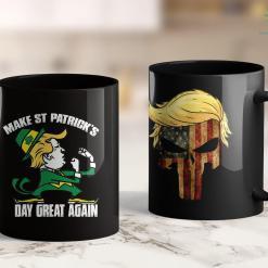 Trump 2020 Presidential Campaign Trump Make St Patricks Day Great Again -Funny Irish Ts 11oz Coffee Mug %tag familyloves.com
