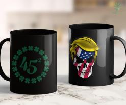 Trump 2020 Slogan St Patricks Day Betsy Ross Trump Election Irish 45 Shamrock 11oz Coffee Mug %tag familyloves.com