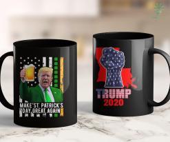 Trump Dress Shirts Vintage Trump Hair Skull 2020 American Flag 4 Th July Gift 11oz Coffee Mug %tag familyloves.com