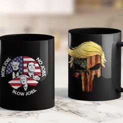 Trump Shirts Skull With Iconic Trump Hair President Flag America 11oz Coffee Mug %tag familyloves.com
