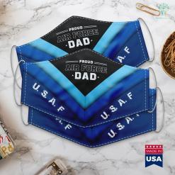 Us Air Force Address U.S. Air Force Original Vintage Usaf Logo Gift Face Mask Gift %tag familyloves.com