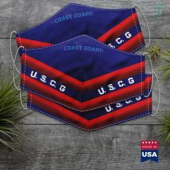 Us Coast Guard Motto Modern Us Coast Guard Uscg Stencil Blue Text Distressed Face Mask Gift %tag familyloves.com