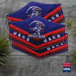 Us Coast Guard Reserve Proud Coast Guard Grandpa My Grandson Has Your Back Face Mask Gift %tag familyloves.com