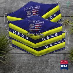 Us Coast Guard Seal U.S Coast Guard Uscg Veteran Vintage Mens Face Mask Gift %tag familyloves.com