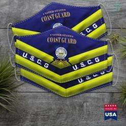 Us Coast Guard Twitter Us Coast Guard Auxiliary Seal Army Military Face Mask Gift %tag familyloves.com