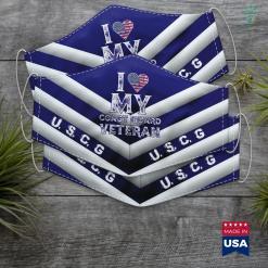 Us Coast Guard Washington Dc I Love My Coast Guard Veteran Vintage Veterans Day Gift Face Mask Gift %tag familyloves.com