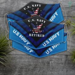 Us Navy Blazer Proud American Retired Us Navy Veteran Memorial Face Mask Gift %tag familyloves.com