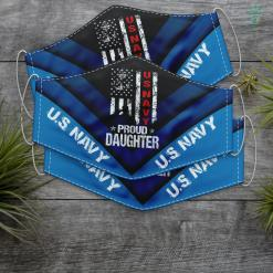 Us Navy Clothing Us Navy Proud Daughter Veteran Face Mask Gift %tag familyloves.com