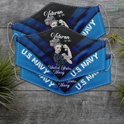 Us Navy Slogan U.S. Veteran Women Veteran Of Us Navy Women Funny Face Mask Gift %tag familyloves.com