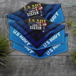 Us Navy Slogan Us Proud Navy Sister With American Flag Military For Veteran Face Mask Gift %tag familyloves.com