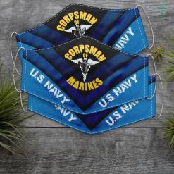Us Navy Sticker U.S. Navy Corpsman 8404 Fmf Navy Veteran Gift Ideas Face Mask Gift %tag familyloves.com