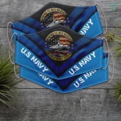 Us Navy Womens Mens U.S. Navy Vietnam Veteran Tee American Flag Usn Gift Face Mask Gift %tag familyloves.com