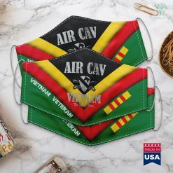V Va Air Cav Vietnam Distressed Face Mask Gift %tag familyloves.com