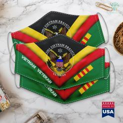 Vets Memorial 1961 Vietnam Era 1975 Emblem Cool Logo Veteran Soldier Gift Face Mask Gift %tag familyloves.com