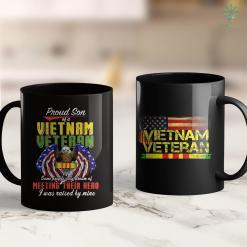 Vets Of America Proud Vietnam Veteran Son Gifts Raised By My Hero 11Oz 15Oz Black Coffee Mug %tag familyloves.com