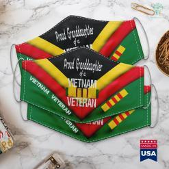 Vietnam Veteran Memorial Us Military Family Proud Granddaughter A Vietnam Veteran Face Mask Gift %tag familyloves.com