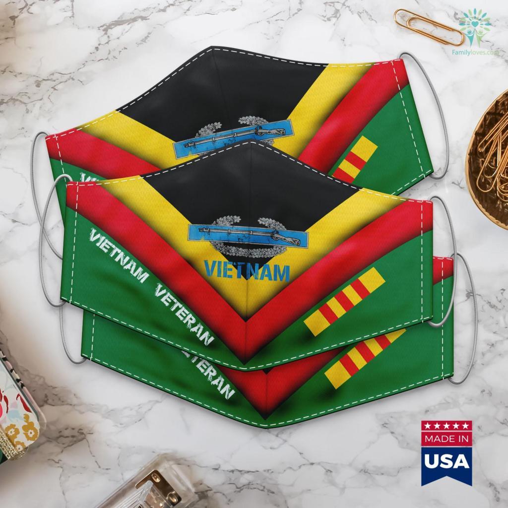Vietnam Veterans Day Army Combat Infantry Vietnam Military Face Mask Gift Familyloves.com