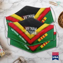 Vietnam Veterans Memorial Facts Mens Vietnam Veteran Military For Grandpa Face Mask Gift %tag familyloves.com