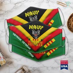 Vietnam Wall Memorial Navy Vietnam Veteran Apparel U.S. Navy Veteran Face Mask Gift %tag familyloves.com