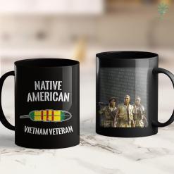Vietnam Era Veterans Benefits Mens Native American Indian Vietnam Hero Veteran Feather T-Shir 11Oz 15Oz Black Coffee Mug %tag familyloves.com