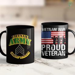 Vietnam Memorial Wall Army - Sgt - Vietnam Combat Veteran 11Oz 15Oz Black Coffee Mug %tag familyloves.com