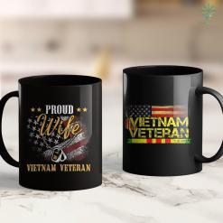 Vietnam Veteran War Proud Wife Of A Vietnam Veteran 11Oz 15Oz Black Coffee Mug %tag familyloves.com