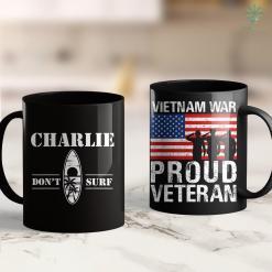 Vietnam Veterans Charity Charlie Dont Surf Military Vietnam War Veteran Movie Buff 11Oz 15Oz Black Coffee Mug %tag familyloves.com