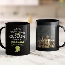 Vietnam Veterans Donation Pickup Mens Never Underestimate An Old Man Whos A Vietnam Veteran 11Oz 15Oz Black Coffee Mug %tag familyloves.com