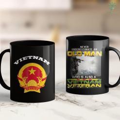 Vietnam War Veteran Vietnam Coat Of Arms Tee Flag Souvenir Hanoi 11Oz 15Oz Black Coffee Mug %tag familyloves.com