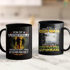Vietnam War Vets Vietnam Veteran Son My Father Paid For It Gifts 11Oz 15Oz Black Coffee Mug %tag familyloves.com