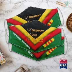 Vietnamese Website Funny Veteran Grumpy Old Vietnam Veteran Gifts Face Mask Gift %tag familyloves.com