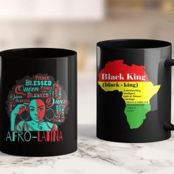 What Does Blm Stand For Afro-Latina Natural Hair Queen Black Women History Month 11Oz 15Oz Black Mug %tag familyloves.com