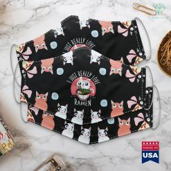 Women Dog Lovers Love Ramen Japanese Noodles Kawaii Anime Cat Gifts Face Mask Gift %tag familyloves.com