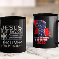 Trump Button Trump 2020 American Flag Vintage 11oz Coffee Mug %tag familyloves.com