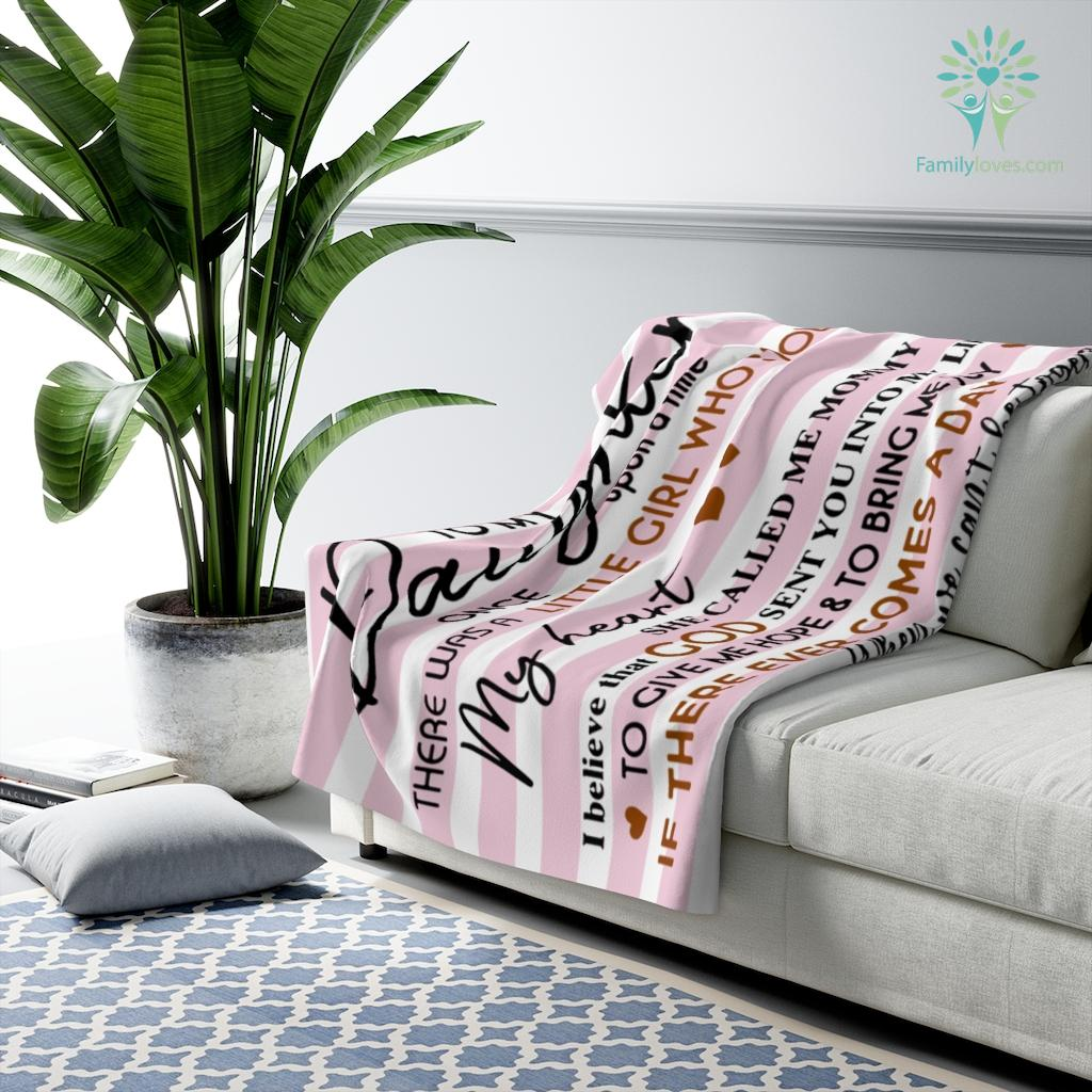 Mom To My Daughter - Black Girl Who Stole Blanket Once Upon A Time Sherpa Fleece Blanket %tag familyloves.com