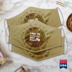 Bass Pro Shop Nashville Mens Funny Elk Hunting I Hunt Elk Because I Cant Hunt People Cloth Face Mask Gift %tag familyloves.com