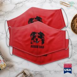 Dog Beds Mens Aussie Dad Australian Shepherd Dog Dad Face Mask Gift %tag familyloves.com