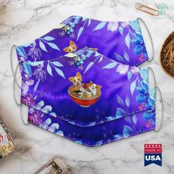 Dog Puppy Kawaii Japanese Anime Corgi Dog Funny Ramen Gift Tee Face Mask Gift %tag familyloves.com