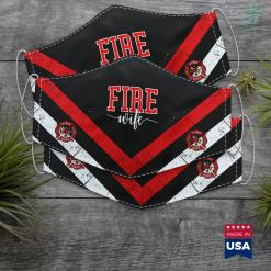Firefighter Fire Wife Proud Hot Fireman Hero Wives Firefighter Blanket Cloth Face Mask Gift %tag familyloves.com