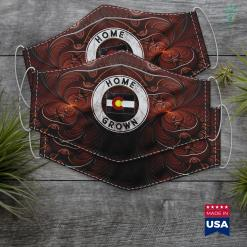 Native American Woman Colorado Native Home Grown Quote State American Flag Pride Cloth Face Mask Gift %tag familyloves.com