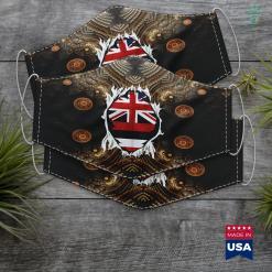 Native American Zodiac Hawaii Jersey Gift For Hawaiian Hi Native Home State Flag Cloth Face Mask Gift %tag familyloves.com