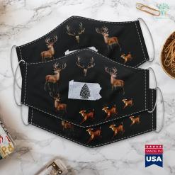 Nebraska Hunting Seasons Arrowhead Hunting Pennsylvania State Map Cloth Face Mask Gift %tag familyloves.com