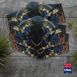 North Dakota Native American Voting Native American Two Warrior Braves Cloth Face Mask Gift %tag familyloves.com