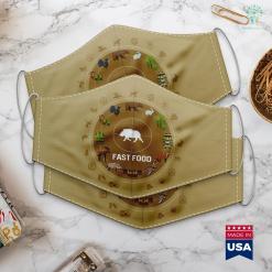 Range Finder Hunting Fast Food Wild Boar Hunter Pig Hunting Gift Cloth Face Mask Gift %tag familyloves.com