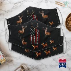 Texas Hunting Seasons Coyote Hunting American Usa Flag Predator Hunter Cloth Face Mask Gift %tag familyloves.com