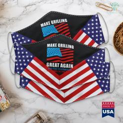 Trump Rally Rio Rancho Funny Make Grilling Great Again Trump Bbq Pit Master Dad Cloth Face Mask Gift %tag familyloves.com