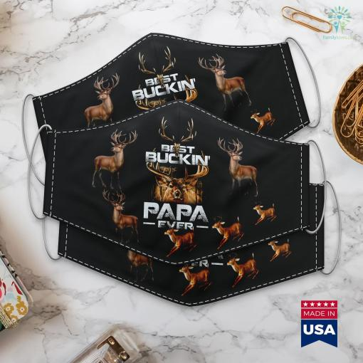 Wa Fish And Game Best Buckin Papa Ever Deer Hunting Bucking Father Cloth Face Mask Gift %tag familyloves.com