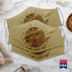 Wisconsin Hunting Seasons I Love Flying Food Turkey Hunters Hunting Cloth Face Mask Gift %tag familyloves.com