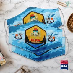 Wow Fishing Bot Christmas Gifts Fishing Reel Cool G Pa American Flag Cloth Face Mask Gift %tag familyloves.com